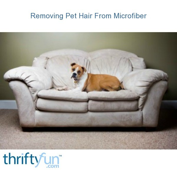 Removing Pet Hair From Microfiber Thriftyfun