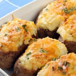 Twice Baked Potato Recipes, Twice baked potatoes.
