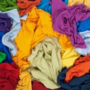 Uses for Old T-Shirts, Mass of brightly colored clothing.
