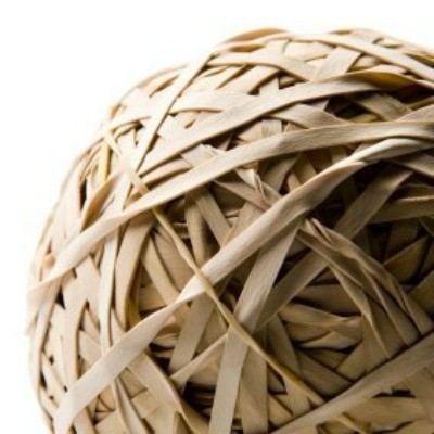 Rubber band ball.