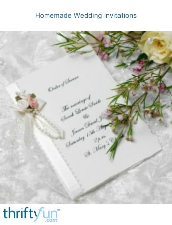 Homemade Wedding Invitations Thriftyfun