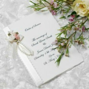 Homemade wedding invitation.