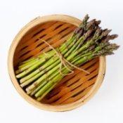 Asparagus in a Bamboo Steamer