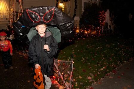 Boy Dressed as Doom Shroom