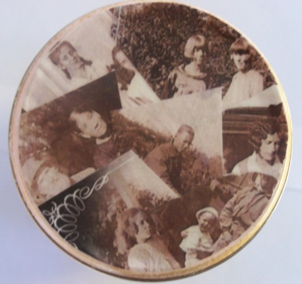 Collage of Photos on tin lid