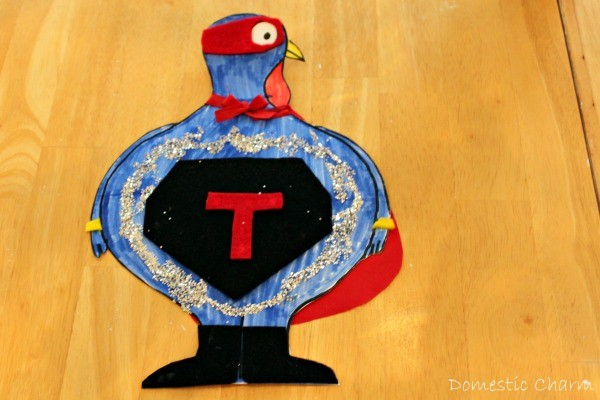 Super hero turkey all put together.