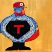Super hero turkey all put together.