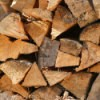 Photo of stacked firewood.