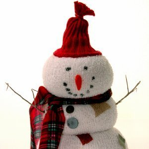 Homemade sock snowman.