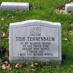 A headstone for a deceased pet.