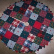 Making a Christmas Tree Skirt, Photo of a homemade tree skirt.