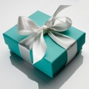 Ideas for a Breakfast at Tiffany's Bridal Shower, Tiffany's gift box.