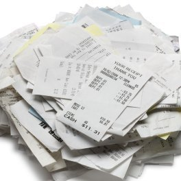 A pile of receipts.
