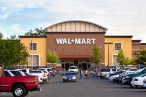 Parking Lot of Large Walmart