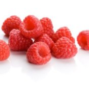 Raspberries on White Background
