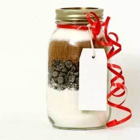 Photo of a chocolate chip cookie gift mix.