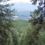 View from Mountain Looking Down in Montana