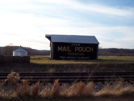 Barn with Mail Pouch Tobacco Advertisement on the Side