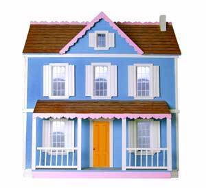 Photo of a dollhouse.