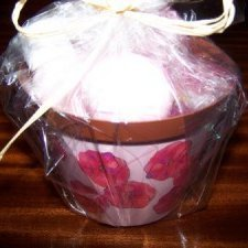 Reusable Gift Wrap Ideas, Decorated flower pot as gift container.