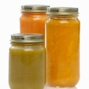 Uses for Baby Food Jars, Three Jars Full of Baby Food