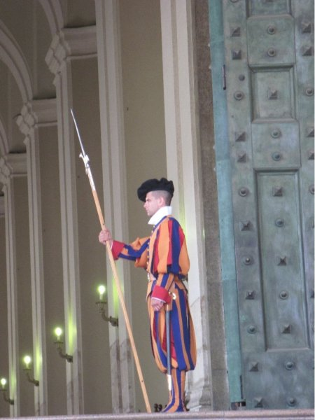 Swiss Guard at Vatican in Rome