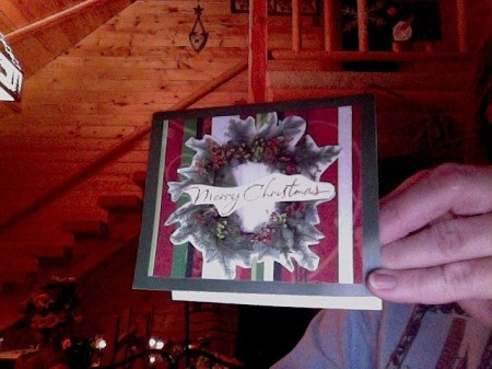 Example of recarded Christmas card.