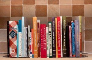 Organized Cookbooks on a Shelf