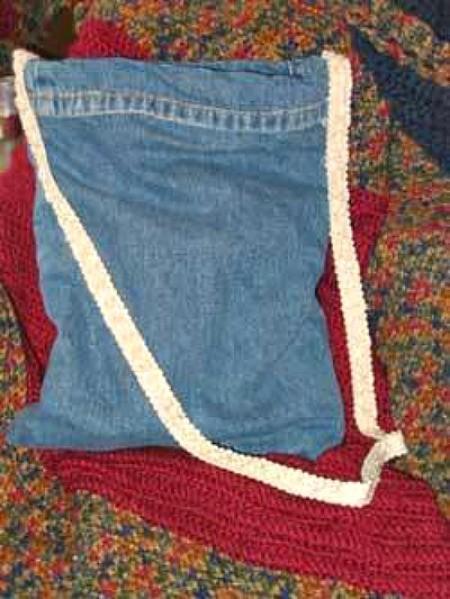 Photo of a denim purse.