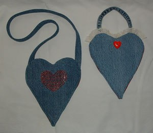 Denim Heart Purse
