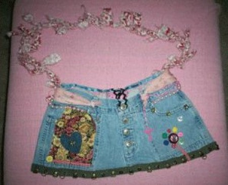 Photo of a jeans purse.