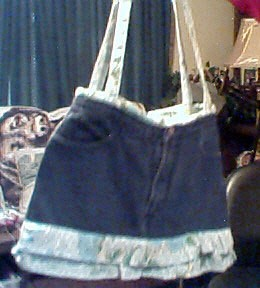 Ruffled Jean Purse
