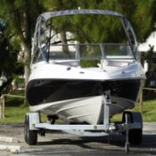 Buying a Used Boat, A boat on a trailer.