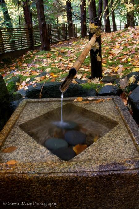 Bamboo Fountain at Portland Japanese Garden