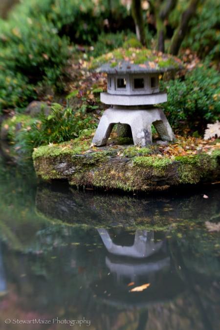 Snow Lantern Reflection at Portland Japanese Garden