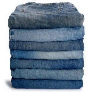 Crafts Using Old Jeans, Stack of jeans to use for crafts.