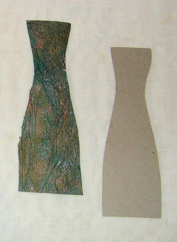 Handmade Collage Card - Vases