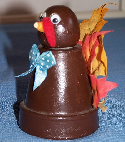 Photo of the finished clay pot turkey.