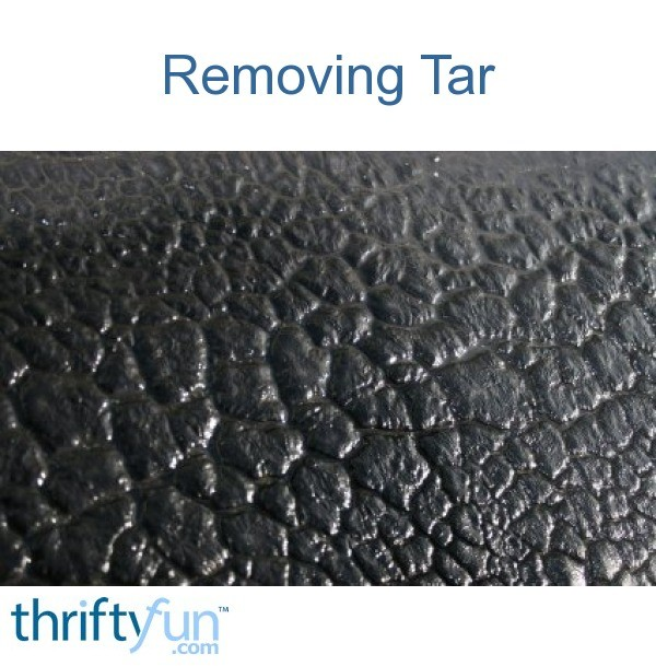 Removing Tar from Clothing | ThriftyFun