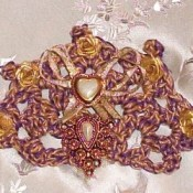 Golden Crocheted Barrette 2