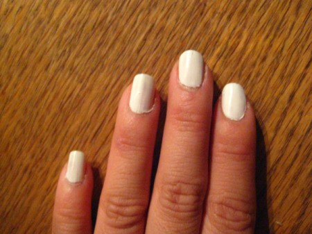 White nails ready for newsprint.