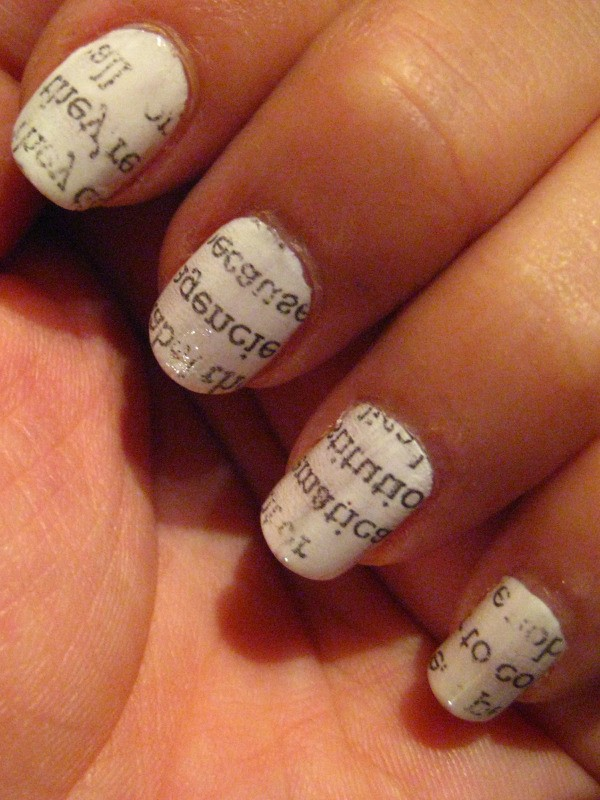 Newspaper Nail Art | ThriftyFun