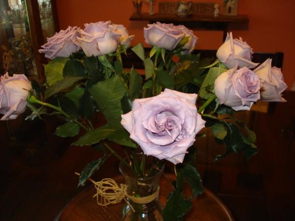 A Beautiful Dozen Lilac Roses