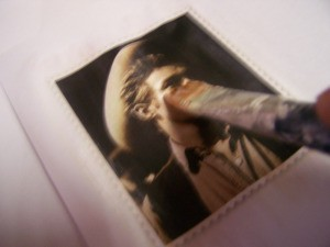 Paint Paper Seal over the pictures of the movie stars.