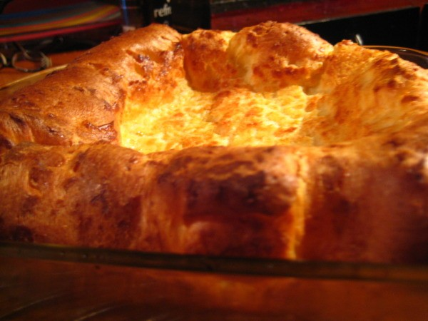 A savory Yorkshire Pudding.