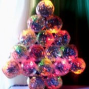 Baby food jar Christmas tree.
