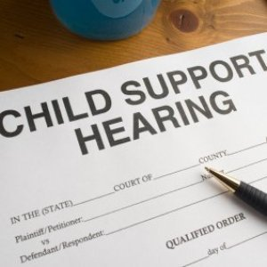 Child Support Payments and Social Security, Paper entitled Child Support Hearing.