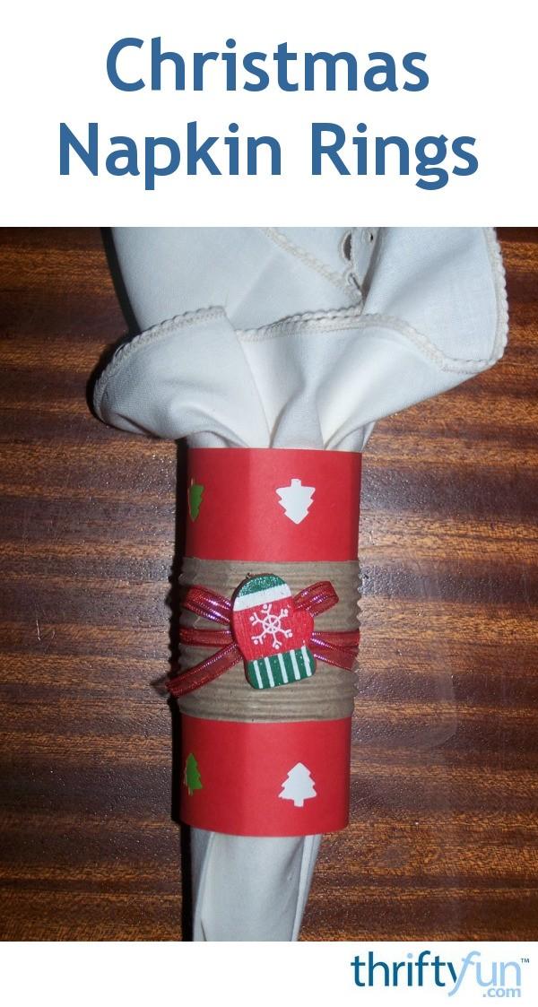 Cardboard Christmas Napkin Rings Thriftyfun