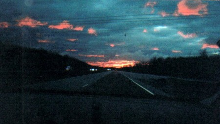 Sunset on I-90