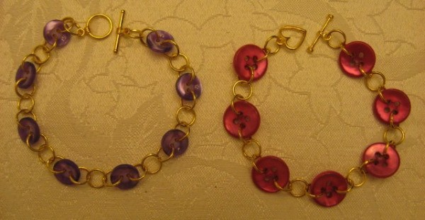 Two finished bracelets.